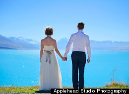 The most epic and beautiful wedding we've ever seen happened in New Zealand.
