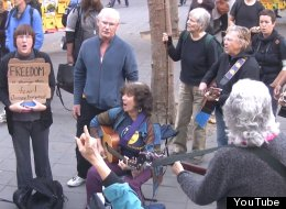 Occupella performs at an Occupy CAL event on Nov. 15, 2011