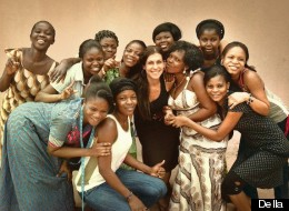 Tina Tangalakis and the Ghanaian artisans of Della.