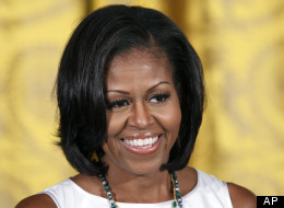 First lady Michelle Obama hosts the Smithsonian's Cooper-Hewitt National Design Award luncheon in the East Room of the White House on Friday, July 13, 2012.