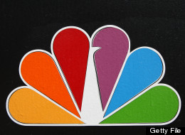 The NBC peacock logo hangs on the NBC studios building on October 20, 2008 in Burbank, California. (Photo by David McNew/Getty Images)