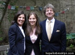 Judge Gustin Reichbach (R) poses with wife Ellen Meyers (L) and daughter Hope Reichbach (C) in 2010.