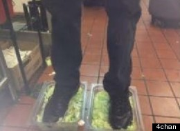 An unidentified employee at an Ohio Burger King posted a photo of himself stepping in lettuce to 4chan on Monday. Users of the popular image board responded by pinpointing his location and contacting management and news media.