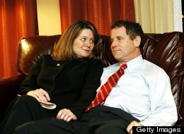 Sen. Sherrod Brown (D-Ohio) with his wife, Connie Schultz.