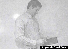 Jonathan Ive playing with an iPad prototype sometime between 2002 and 2004.