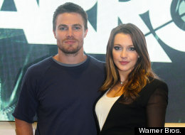 Stephen Amell and Katie Cassidy.