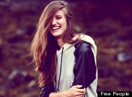 This model seems pretty happy about Free People opening in Canada. We can't deny the fact that we are too.