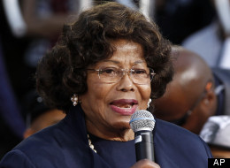 Katherine Jackson speaks during a hand and footprint ceremony honoring her son, musician Michael Jackson, in front of Grauman's Chinese Theatre in Los Angeles, Thursday, Jan. 26, 2012. The ceremony was held to celebrate the