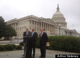 Reps. Charles Boustany (R-La.), John Barrow (D-Ga.) and Leonard Lance (R-N.J.) tout the