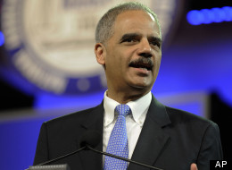 Attorney General Eric Holder speaks at the NAACP annual convention Tuesday, July 10, 2012, in Houston. (AP Photo/Pat Sullivan)