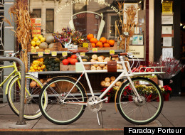 The Faraday Porteur is an electric bike with a nostalgic look.