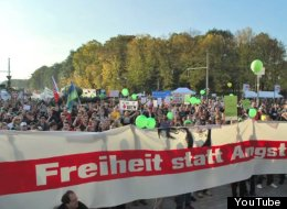German's protest the Data Retention Directive