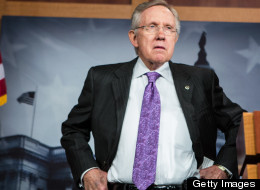 Senate Majority Leader Harry Reid criticized Mitt Romney for his behavior during his trip to London.