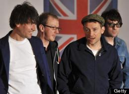 Alex James, Dave Rowntree, Damon Albarn, and Graham Coxon of Blur.