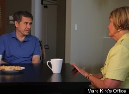 Sen. Mark Kirk meeting with Rep. Judy Biggert Thursday at Kirk's home.