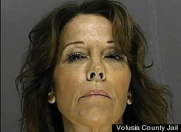Claudia Ambroziak, 58, has been charged with domestic battery as well as battery on a law enforcement officer.