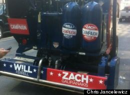 The back of the promotional zamboni for 'The Campaign.'