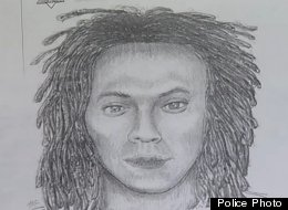 A police sketch of the suspect