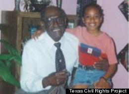Eugene Blackmon with his granddaughter.