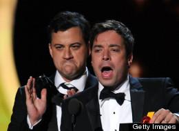 Jimmy Fallon & Jimmy Kimmel at the Emmy Awards