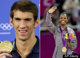 Celebrities congratulate Gabby Douglas, Michael Phelps and more members of Team USA at the Olympics.