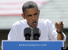 In this Aug. 9, 2012 file photo, President Barack Obama speaks in Colorado Springs, Colo. (AP Photo/Jack Dempsey, File)