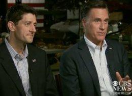 Rep. Paul Ryan (R-Wis.) and former Massachusetts Gov. Mitt Romney (R) appearing on