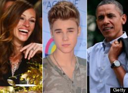 Famosos zurdos como Julia Roberts, Justin Bieber y Barack Obama