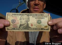 Steve Boggan followed this ten dollar bill around the country
