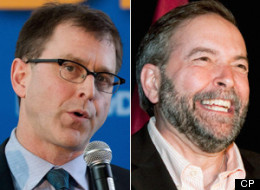 The NDP has made strong gains in the polls in B.C. since Thomas Mulcair was elected federal leader. Adrian Dix's provincial party has also picked up support. (CP)
