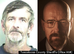 The real-life Walter White, 55, and Bryan Cranston, 56, who plays a character named Walter White on