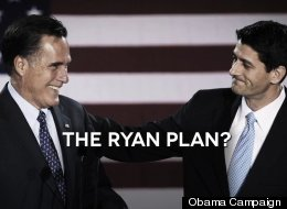 Mitt Romney and running mate Paul Ryan, subject of a new ad by President Barack Obama's reelection campaign.
