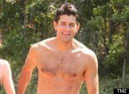 Paul Ryan goes shirtless on vacation with his wife Janna. (Photo courtesy of TMZ)