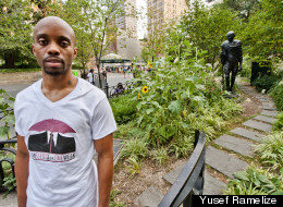 Yusef Ramelize in Union Square where he lived for a week in 2009 and 2010. Photo courtesy of Yusef Ramelize