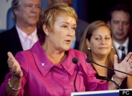 Pauline Marois, lors de son annonce le vendredi, 17 août 2012. (PC)