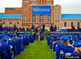 Photo of a graduating class from Metropolitan State University of Denver.