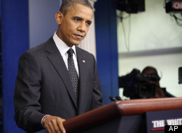 President Barack Obama takes questions at a Monday press conference at the White House.