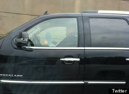 Toronto Mayor Rob Ford is refusing to hire a chauffeur, despite the pleas of some of his staunchest allies in council to do so after he was photographed reading while driving on the Gardiner Expressway. (Twitter)