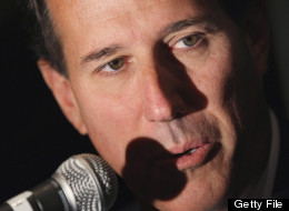 Former senator and former Republican presidential candidate Rick Santorum gives a radio interview, June 8, 2012. (Photo by Scott Olson/Getty Images)