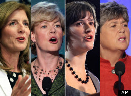 Caroline Kennedy, Tammy Baldwin, Sandra Fluke and Nancy Keenan (left to right) are among the prominent women scheduled to speak at the Democratic National Convention.