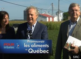 Au 24e jour de la campagne, Jean Charest parle agroalimentaire