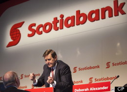 Richard Waugh, President and Chief Executive Officer of Scotiabank. Scotiabank profits grew by 57 per cent in the third quarter as several divisions improved performance and the bank also benefited from the sale of its headquarters in Toronto. (THE CANADIAN PRESS/Liam Richards)