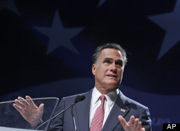 Republican presidential nominee Mitt Romney speaks at the NALEO (National Association of Latino Elected and Appointed Officials) conference in Orlando, Fla., June 21, 2012. (AP Photo/Charles Dharapak)