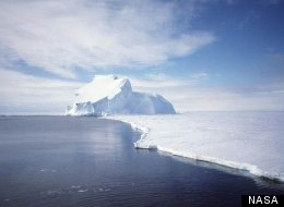 Icebergs form on ice sheets in Antarctica.