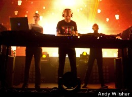 Above & Beyond in concert.