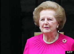 Margaret Thatcher à Londres le 13 septembre 2007.