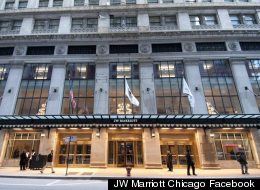 The JW Marriott hotel in Chicago. Three deaths have now been traced back to a Legionnaires' outbreak at the hotel.