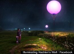 Illuminating Hadrian's Wall / Facebook