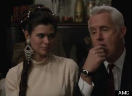 Roger Sterling trips on LSD and other instances of drugs on TV.