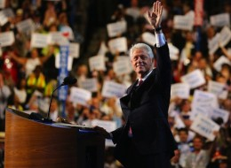 Former President Bill Clinton, in his speech Wednesday night to the DNC, asked undecided voters to give President Barack Obama another chance.